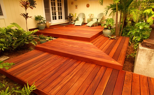 Elegant Wood Deck Tigerwood