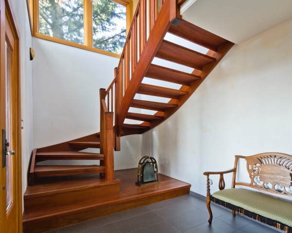 Wood Is An Extremely Por Material For Building A Staircase The Best Part Of Made That They Can Get Feel Any Kind